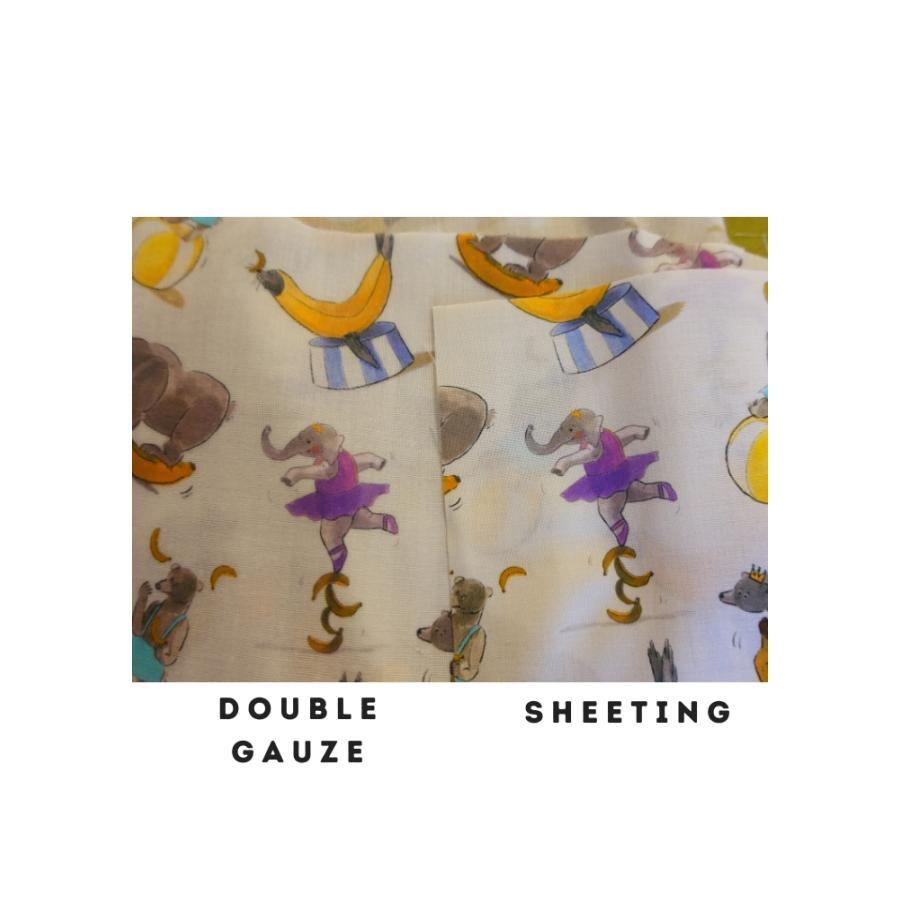ダブルガーゼ or シーチング 生地 切り売り 10cm単位 綿100% 日本製  春のうたげ  zoi zoi|zoizoi|10