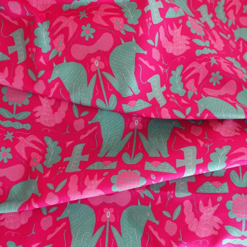 ダブルガーゼ or シーチング 生地 切り売り 10cm単位 綿100% 日本製  春のうたげ  zoi zoi|zoizoi|04