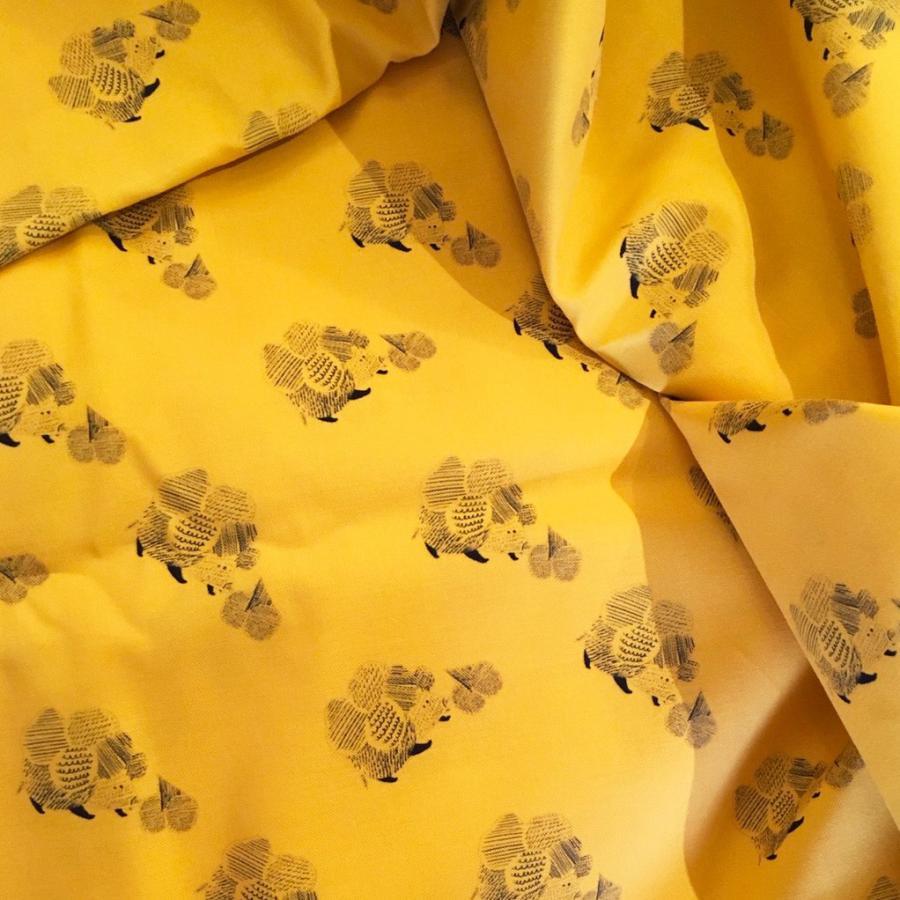 ダブルガーゼ or シーチング 生地 切り売り 10cm単位 綿100% 日本製 ハリネズミのはりはり帽子 zoi zoi|zoizoi|02