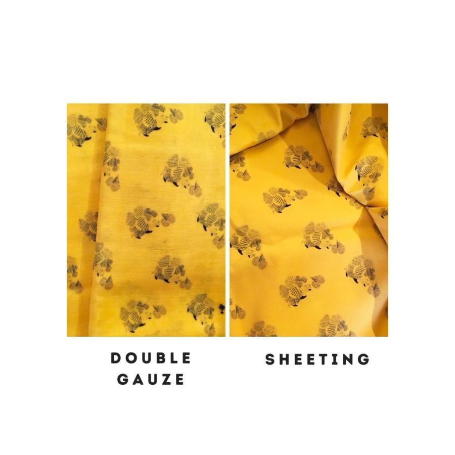 ダブルガーゼ or シーチング 生地 切り売り 10cm単位 綿100% 日本製 ハリネズミのはりはり帽子 zoi zoi|zoizoi|03