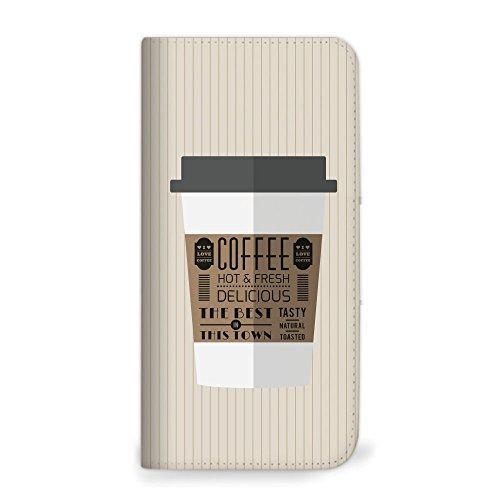 mitas らくらくスマートフォン4 F-04J ケース 手帳型 ベルトなし コーヒー A (344) NB-0187-A/F-04J|zwink
