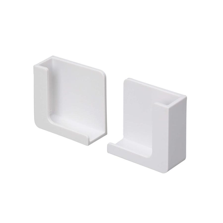 東和産業 浴室用ラック ホワイト 約5×2.3×5cm 磁着SQ マグネット スマートフォンホルダー 39200|zwink