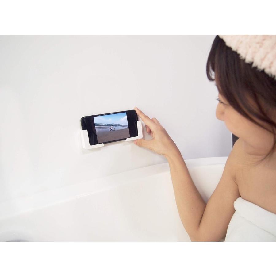東和産業 浴室用ラック ホワイト 約5×2.3×5cm 磁着SQ マグネット スマートフォンホルダー 39200|zwink|02