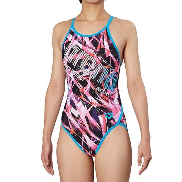 ◎■■19年秋冬 アリーナ レディース競泳水着 練習用 FSA-9605W PKTQ