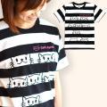 Tシャツ メンズ レディース 半袖 猫 Cat's Apartment - ブラック × ホワイト ...