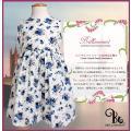 夏に涼しげ、ノースリーブのドレスです!ふわっと広がるシルエットも可愛い。 色は淡い色合いの小花柄清楚...