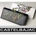 カステルバジャックのアイコン「ハート家紋」を華やかにスタッズで表現した長財布。 ソフトな牛革を使用し...