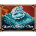 人魚姫の真珠貝HappyMermaidShell リングピロー プロポーズ お誕生日 記念日 ギフト