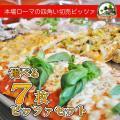 ピザ最優秀賞に輝いたイタリアローマの本格派ピッツァ 1枚 約14cm×14cm(約200g)  ピッ...