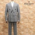 秋冬 HACKETT LONDON ダブルスーツ 大きいサイズ HM422391R ドーメル社ウール...