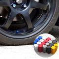 汎用 エアバルブ キャップ カバー 4個/アルミ/全6色 タイヤ ホイール (ネコポス送料無料)