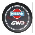 NISSAN ニッサン スペアタイヤカバー 自動車背面タイヤ 高品質 合皮製 15インチ 16 イン...