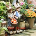 置物 北欧 ウサギ 兎 2点セット 大きい ガーデニング 飾り物 庭 ガーデン おしゃれ オーナメン...