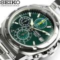 SEIKOセイコー 逆輸入 クロノグラフ メンズ 腕時計 1/20秒高速測定モデル SND411 ベ...