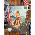 アロハ・フロム・ワイキキのブリキ看板 ■ アメリカン雑貨 アメリカ雑貨