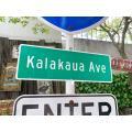 ハワイ カラカウア通りのストリートサイン ■ アメリカン雑貨 アメリカ雑貨