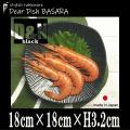 【サイズ】18cm×18cm×H3.2cm  【重さ】約357g 【カラー】黒/ブラック ※画像と実...