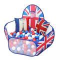 おりたたみのボールプール(一部メッシュ素材)  おしゃれな英国旗デザインです。※ボールや小物は付属し...