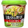 アサヒ おどろき野菜 1食分の野菜 チキンとキャベツのクリームスープ 24.8G×6個セット