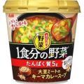 アサヒ おどろき野菜 1食分の野菜 大豆ミートのキーマカレースープ 27.5G×6個セット