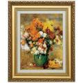 ルノワール 作品 菊の花束 6号 立体複製名画 絵画 額付き - アートの友社