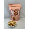 カリフォルニア産のアーモンドをふんだんに餅に練り込み棒状にして3日間休ませ、切断し温風乾燥を90分。...