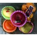 店主ゴリが厳選した旬の果物5種(または6種)を、かごに詰めてお届けいたします。  内容物見本 りんご...