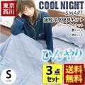 ひんやり寝具3点セット シングル 東京西川 接触冷感ツヌーガ 冷感ケット 冷感敷きパッド 枕パッド