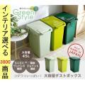ダストボックス 34×45×57.5cm ポリプロピレン 蓋付き 日本製 ライトグリーン・ダリアング...