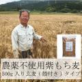 雑穀米 もち麦 パック 国産 農薬不使用 栄養価最高峰の殻付き紫もち麦品種 セール