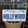 カリフォルニアのナンバープレートデザインに 地名がエンボス加工されたサインプレート!!  よりそれら...