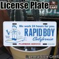 カリフォルニアの水道屋さん RAPID BOY サーフボードに乗ってるところが 西海岸の遊び心を感じ...