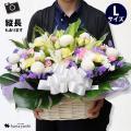 お悔やみの生花アレンジメント。 急なご不幸のお知らせにも新鮮なお花で お供えのお花を製作、翌日(一部...