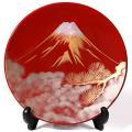 飾皿 富士に松/鳥獣戯画 法人ギフトに/漆器/インテリア/飾り皿