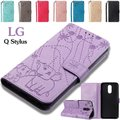 LG Q Stylus手帳型ケース レザー LG Q スマホケース カード収納 軽量LG Q Sty...