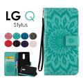 LG Q Stylus手帳型ケース 花柄 フラワー かわいい LG Q Stylusケース PU T...