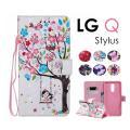 LG Q Stylusケース LG Q Stylusケース 蝶 可愛い LG Q Stylus手帳型...