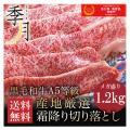 牛肉 A5等級 黒毛和牛切り落とし すき焼き 焼きしゃぶ 送料無料 メガ盛1.2kg 400g×3パ...