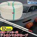 係留ロープ 12mm 【国産】 クレモナロープ より強度のある 日本製 ポリエステル マルチフィラメ...