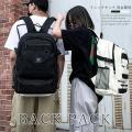 リュックサック 大容量 男女兼用 バックパック 韓国 ファッション 大きめ デイパック アウトドア ...