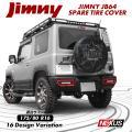 新型 ジムニー JB64W JB23W スペアタイヤカバー 175/80R16 背面 JA11 JA...