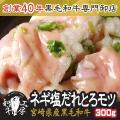肉 2021 ギフト 宮崎県産 黒毛和牛 小腸 ネギ塩だれ味付き 100g×3パック 計300g 注...