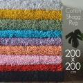 ラグマット 2畳 訳あり 洗える シャギーラグ 綿 シャギー ラグ 安い 200x200