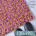 ラグマット 訳あり シャギーラグ 綿 シャギー ラグ 安い 130x190 1.5畳 おしゃれ