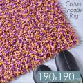 ラグマット 訳あり シャギーラグ 綿 安い 190x190 2畳 小さめ おしゃれ かわいい