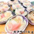 片殻 ウチムラサキ貝 1kg 片貝 大アサリ 約10粒から15粒入り 加熱用 冷凍 ・大アサリ1kg...