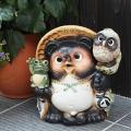 信楽焼 9号満願成就  たぬき 福を呼ぶ縁起物 タヌキ 陶器たぬき 狸 たぬき置物  狸 陶器 タヌ...