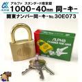 アルファ ALPHA 南京錠 1000-40mm同一キー 30E073 同鍵No 関東No  【豊富...