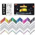 Shuttle Art 布描き用ペン 布ペン 布用マーカー ファブリック用 36色セット カラーペン...