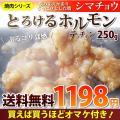 焼肉 牛肉 肉 ホルモン テッチャン モツ シマチョウ 250g バーベキュー 焼くだけ オマケ付き...